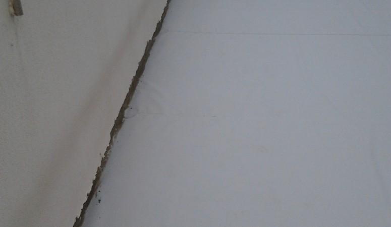 Terraço impermeabilizado com Membrana em PVC